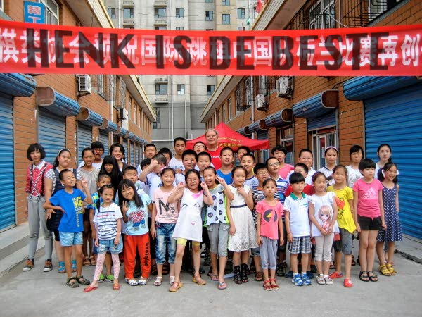 Henk in china